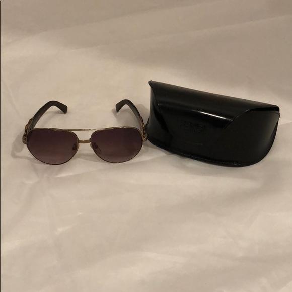 c0f43ffc443c Fendi Accessories - Fendi gold metal aviator sunglasses